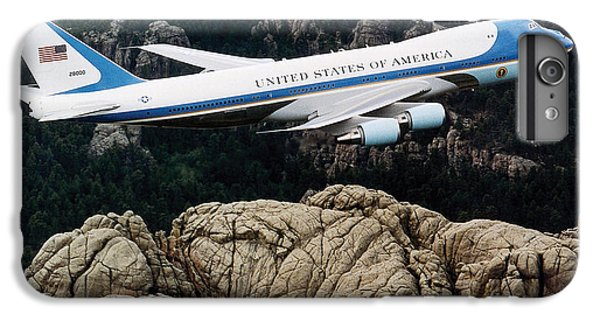 Mount Rushmore iPhone 7 Plus Case - Air Force One Flying Over Mount Rushmore by War Is Hell Store