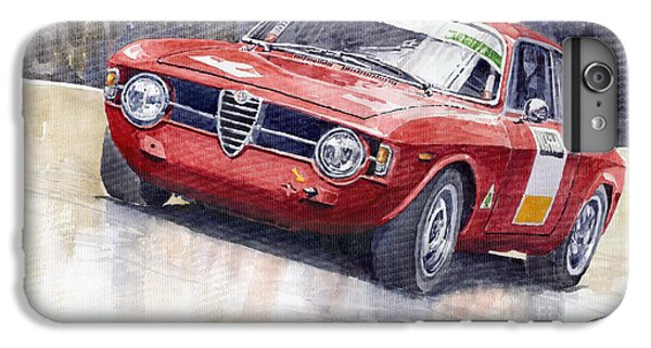 Red iPhone 7 Plus Case - Alfa Romeo Giulie Sprint Gt 1966 by Yuriy Shevchuk