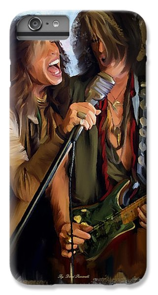 American Rock  Steven Tyler And Joe Perry IPhone 7 Plus Case by Iconic Images Art Gallery David Pucciarelli