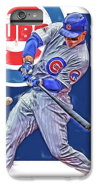 Chicago Cubs iPhone 7 Plus Case - Anthony Rizzo Chicago Cubs Oil Art by Joe Hamilton
