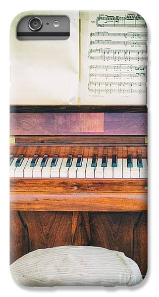 IPhone 7 Plus Case featuring the photograph Antique Piano And Music Sheet by Silvia Ganora