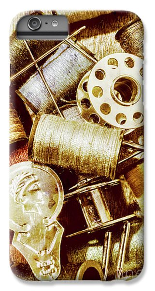 IPhone 7 Plus Case featuring the photograph Antique Sewing Artwork by Jorgo Photography - Wall Art Gallery