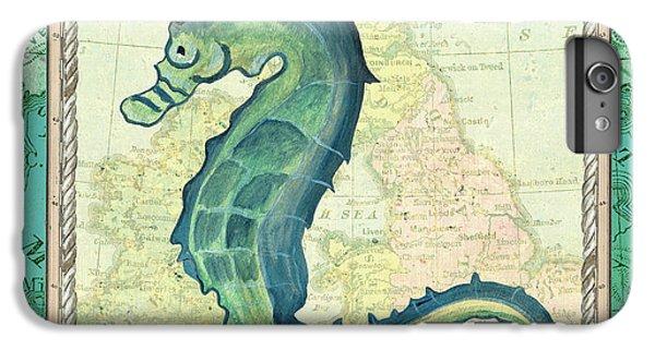 Seahorse iPhone 7 Plus Case - Aqua Maritime Seahorse by Debbie DeWitt