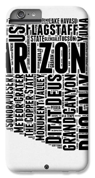 Phoenix iPhone 7 Plus Case - Arizona Word Cloud Map 2 by Naxart Studio
