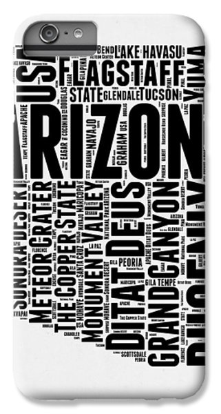 Arizona Word Cloud Map 2 IPhone 7 Plus Case by Naxart Studio