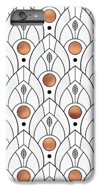 Art Deco Leaves 1 IPhone 7 Plus Case by Elisabeth Fredriksson