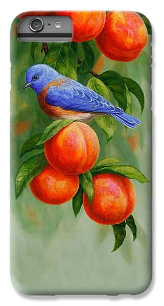 Bluebird And Peaches Greeting Card 2 IPhone 7 Plus Case by Crista Forest