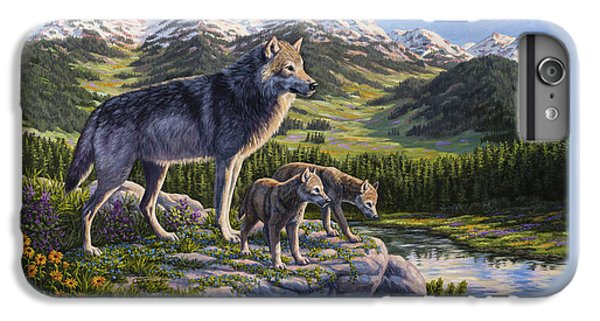 Wolf Painting - Passing It On IPhone 7 Plus Case by Crista Forest