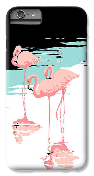 Pink Flamingos Tropical 1980s Abstract Pop Art Nouveau Graphic Art Retro Stylized Florida Print IPhone 7 Plus Case
