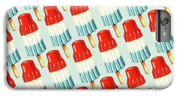 Red iPhone 7 Plus Case - Bomb Pop Pattern by Kelly Gilleran