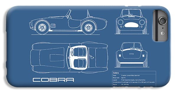 Ac Cobra Blueprint IPhone 7 Plus Case by Mark Rogan