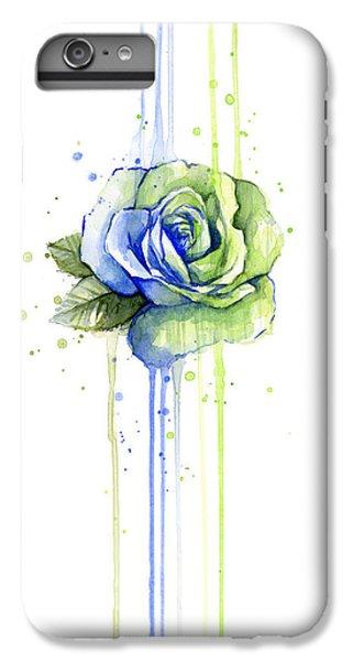 Hawk iPhone 7 Plus Case - Seattle 12th Man Seahawks Watercolor Rose by Olga Shvartsur