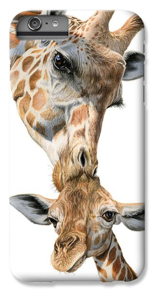 Mother And Baby Giraffe IPhone 7 Plus Case by Sarah Batalka