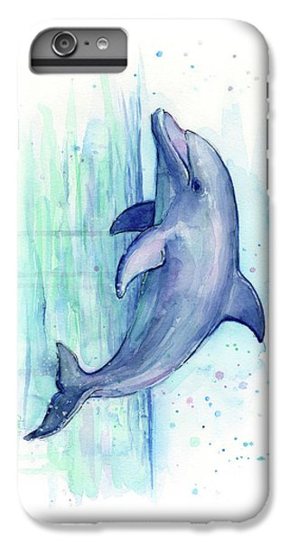 Dolphin Watercolor IPhone 7 Plus Case by Olga Shvartsur
