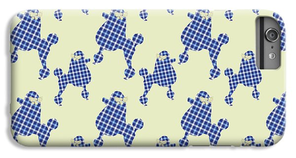 IPhone 7 Plus Case featuring the mixed media French Poodle Plaid by Christina Rollo