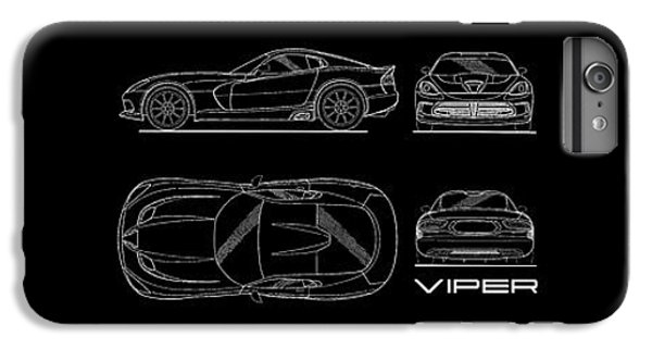 Viper Blueprint IPhone 7 Plus Case by Mark Rogan