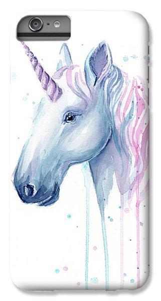 Unicorn iPhone 7 Plus Case - Cotton Candy Unicorn by Olga Shvartsur