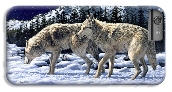 Wolves - Unfamiliar Territory IPhone 7 Plus Case by Crista Forest