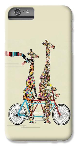 Contemporary iPhone 7 Plus Case - Giraffe Days Lets Tandem by Bri Buckley