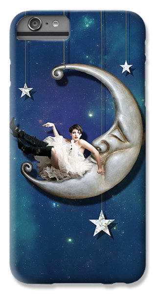 IPhone 7 Plus Case featuring the digital art Paper Moon by Linda Lees