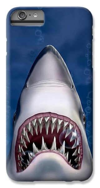 Jaws Great White Shark Art IPhone 7 Plus Case by Walt Curlee