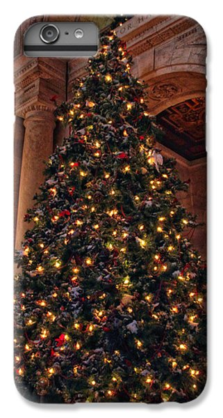 IPhone 7 Plus Case featuring the photograph Astor Hall Christmas by Jessica Jenney