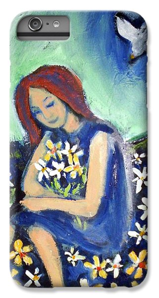 IPhone 7 Plus Case featuring the painting At Peace by Winsome Gunning