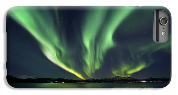 Space iPhone 7 Plus Case - Aurora Borealis Over Tjeldsundet by Arild Heitmann
