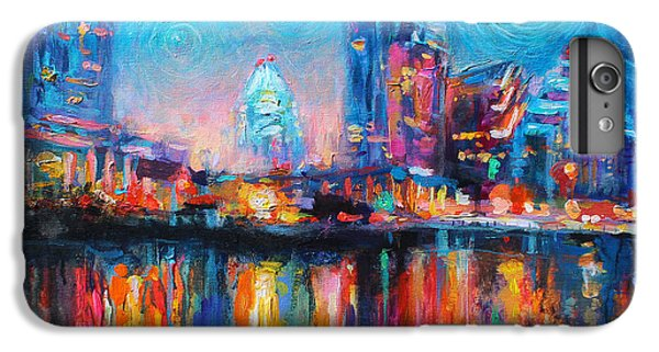 Austin Art Impressionistic Skyline Painting #2 IPhone 7 Plus Case by Svetlana Novikova