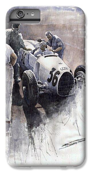 Sports iPhone 7 Plus Case - Auto Union B Type 1935 Italian Gp Monza B Rosermeyer by Yuriy Shevchuk