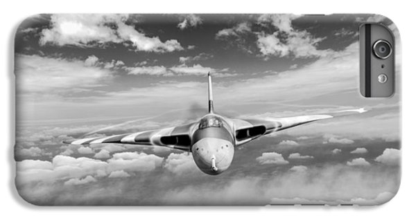 IPhone 7 Plus Case featuring the digital art Avro Vulcan Head On Above Clouds by Gary Eason