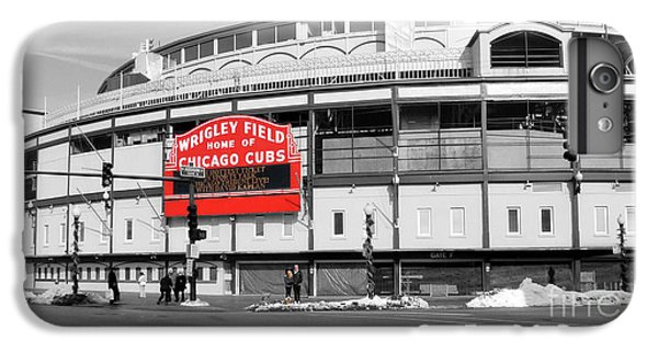 Wrigley Field iPhone 7 Plus Case - B-w Wrigley 100 Years Young by David Bearden