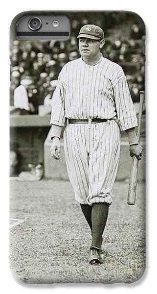 Babe Ruth Going To Bat IPhone 7 Plus Case by Jon Neidert