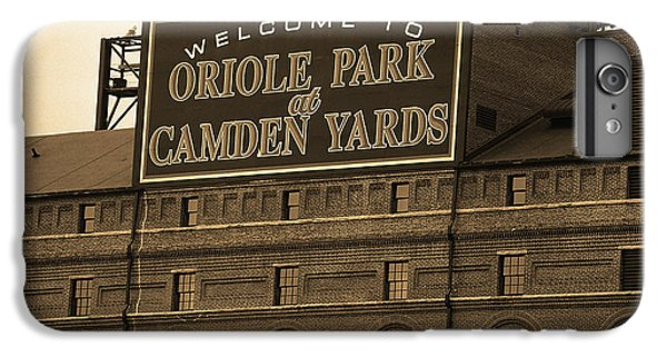 Oriole iPhone 7 Plus Case - Baltimore Orioles Park At Camden Yards Sepia by Frank Romeo