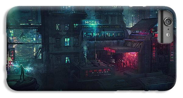 Barcelona iPhone 7 Plus Case - Barcelona Smoke And Neons Eixample by Guillem H Pongiluppi