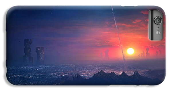 Barcelona iPhone 7 Plus Case - Barcelona Smoke And Neons Montserrat by Guillem H Pongiluppi