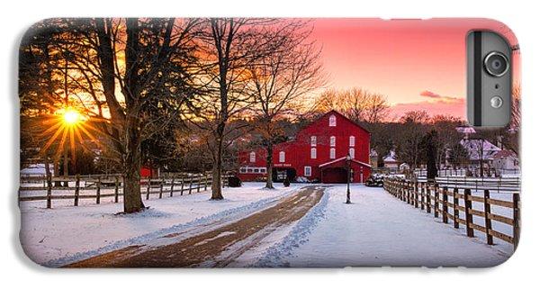 Beaver iPhone 7 Plus Case - Barn At Sunset  by Emmanuel Panagiotakis