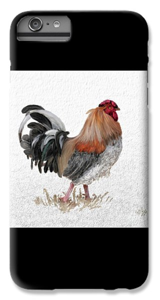 Rooster iPhone 7 Plus Case - Barnyard Boss by Lois Bryan