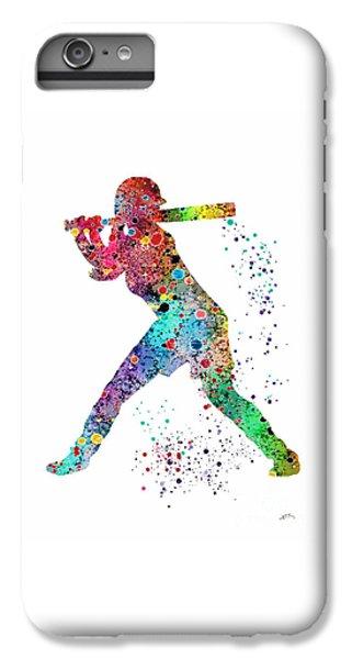 Softball iPhone 7 Plus Case - Baseball Softball Player by Svetla Tancheva