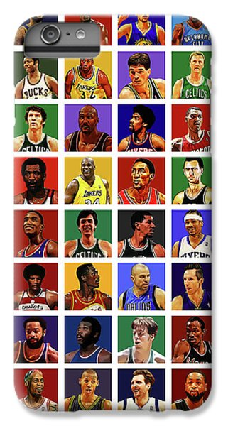 Larry Bird iPhone 7 Plus Case - Basketball Legends by Semih Yurdabak