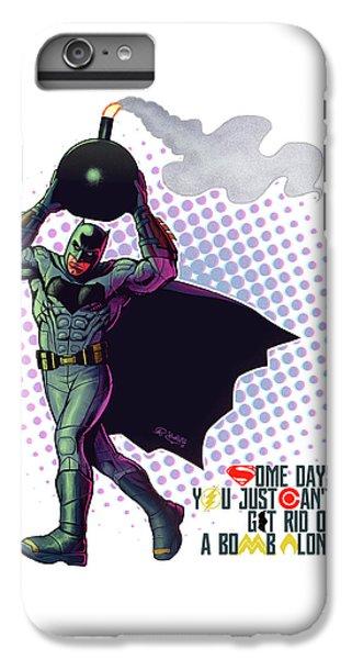 Ben Affleck iPhone 7 Plus Case - Batfleck And The Bomb 2 by Khaled Alsabouni