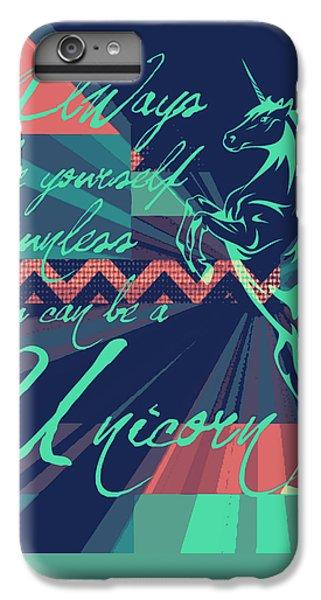 Unicorn iPhone 7 Plus Case - Be A Unicorn 2 by Brandi Fitzgerald