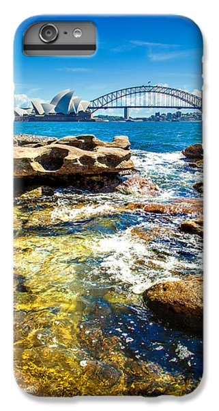 Sydney Skyline iPhone 7 Plus Case - Behind The Rocks by Az Jackson