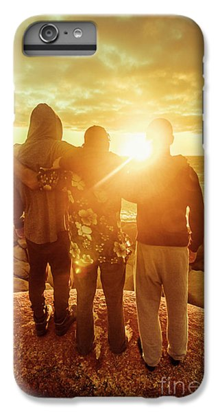 IPhone 7 Plus Case featuring the photograph Best Friends Greeting The Sun by Jorgo Photography - Wall Art Gallery