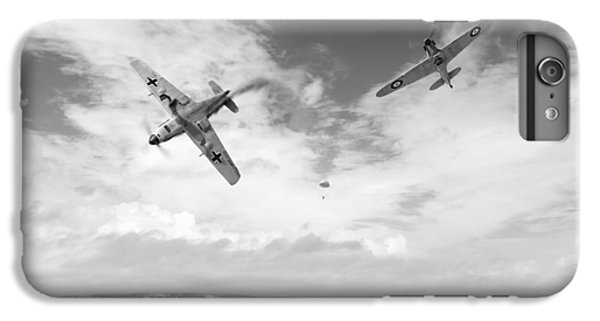IPhone 7 Plus Case featuring the photograph Bf109 Down In The Channel Bw Version by Gary Eason