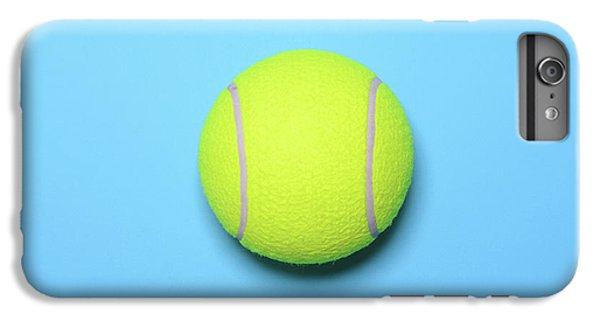 Big Tennis Ball On Blue Background - Trendy Minimal Design Top V IPhone 7 Plus Case