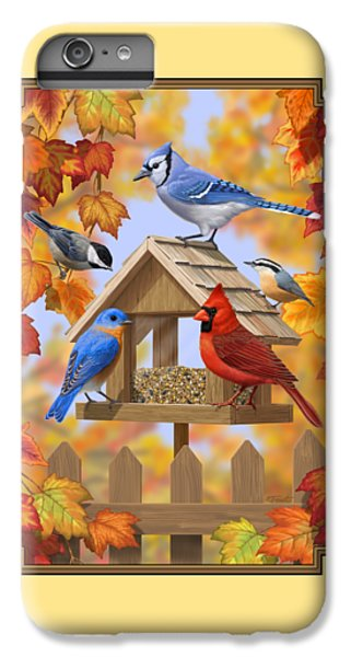 Chickadee iPhone 7 Plus Case - Bird Painting - Autumn Aquaintances by Crista Forest