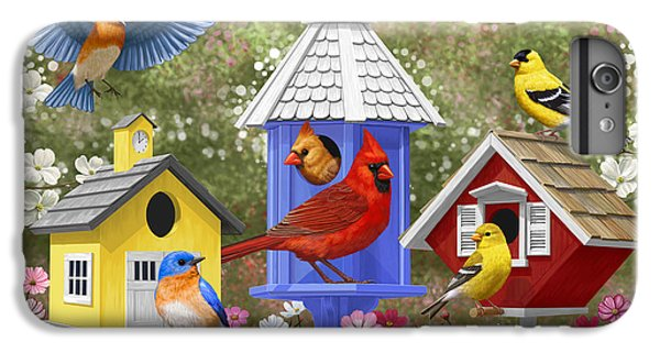 Chickadee iPhone 7 Plus Case - Bird Painting - Primary Colors by Crista Forest