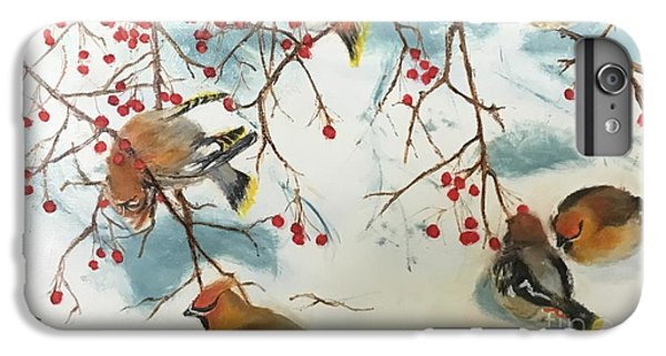 Cedar Waxing iPhone 7 Plus Case - Birds And Berries by Diane Donati