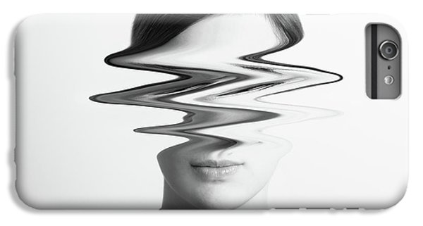Black And White Abstract Woman Portrait Of Restlessness Concept IPhone 7 Plus Case by Radu Bercan